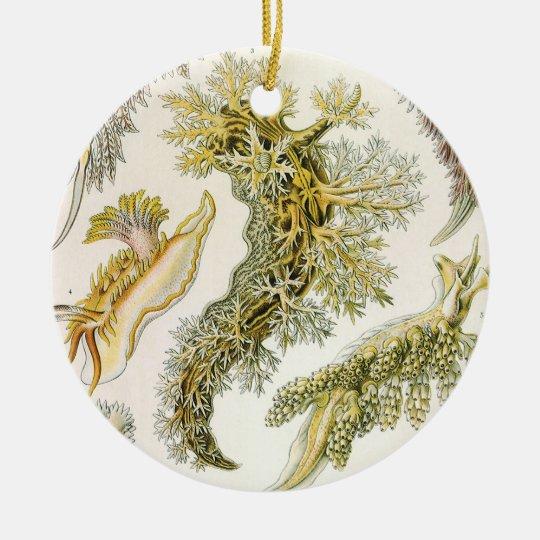 Vintage Snails and Sea Slugs by Ernst Haeckel Ceramic Ornament