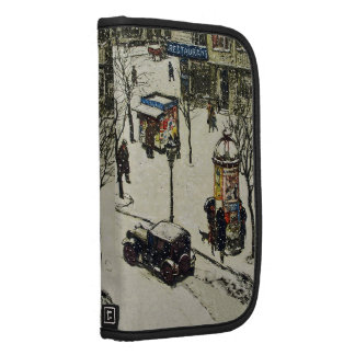 Vintage Snow Covered 1920s City Street Cars Winter Planners
