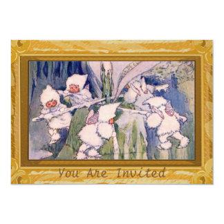 Vintage Snow Fairies Card