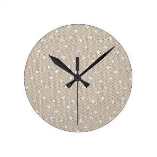 Vintage Snow Lace Round Clock