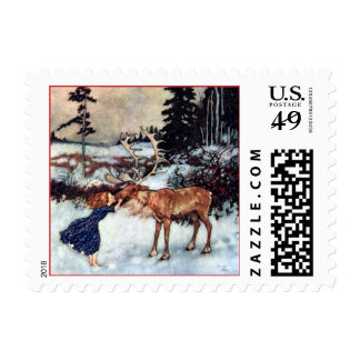Vintage Snow Queen Fairy Tale with Gerda Postage