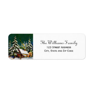 Vintage Snow Scene Return Address Labels