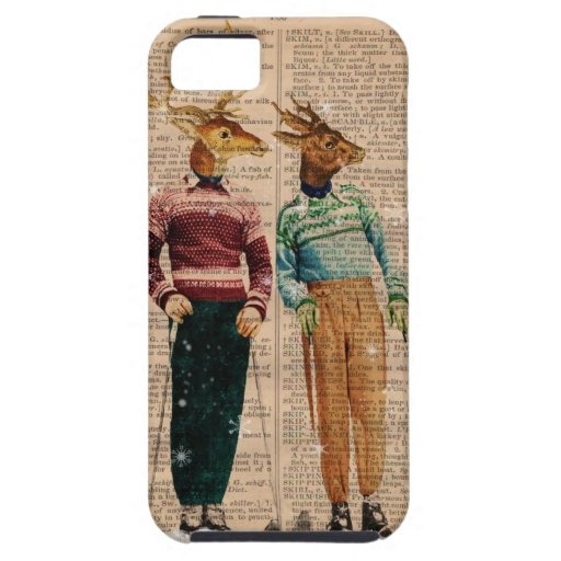 Vintage Snow Ski Deer Dictionary PageIPhone 5 Case iPhone 5/5S Cases