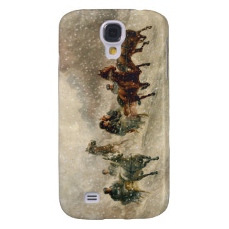 Vintage Snow Sleigh racing Samsung Galaxy S4 Covers