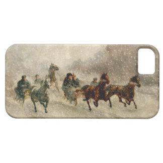 Vintage Snow Sleigh racing iPhone SE/5/5s Case