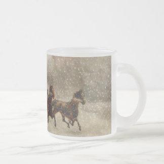 Vintage Snow Sleigh racing Mug