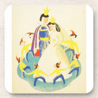 Vintage Snow White and the Seven Dwarfs Poster Coaster
