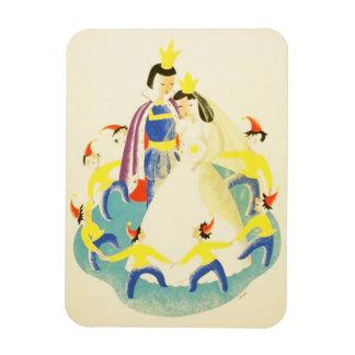 Vintage Snow White and the Seven Dwarfs Poster Rectangular Photo Magnet