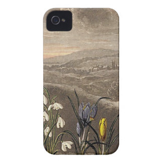 Vintage Snowdrop In Sepia iPhone 4 Cover