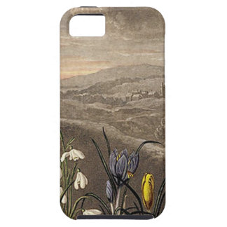 Vintage Snowdrop In Sepia iPhone SE/5/5s Case