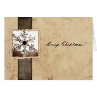Vintage Snowflake Christmas Greeting Card