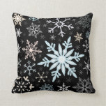Vintage Snowflakes Skier's Winter Holiday Chalet Pillows
