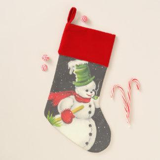 Vintage Snowman Christmas Christmas Stocking