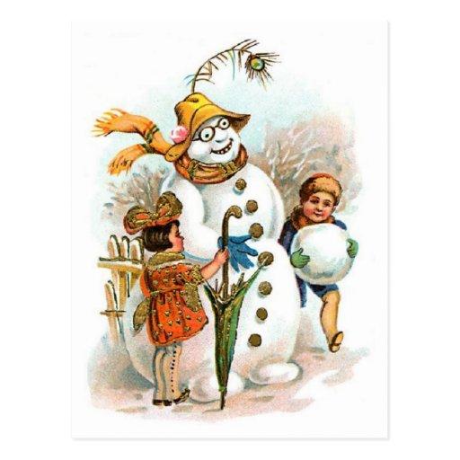 Vintage Snowman Postcards 11