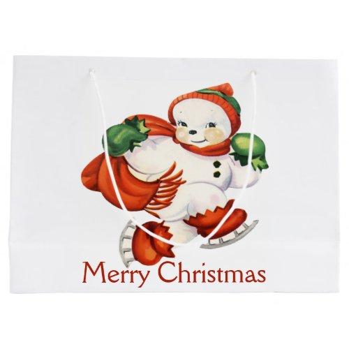 Vintage Snowman Gift Bag