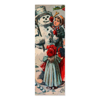 Vintage Snowman LOVE Note or Gift Tag Mini Business Card