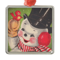 Vintage Snowman Ornament