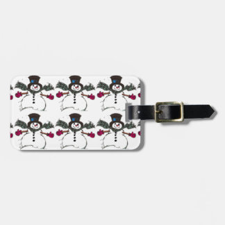 Vintage Snowman Tag For Bags