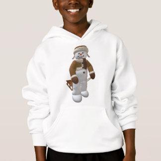 Vintage Snowman with Sledge Hoodie