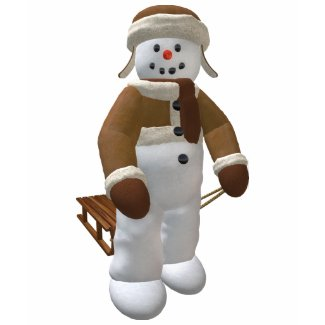Snowman with Sledge