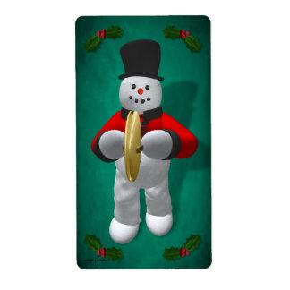 Vintage Snowmen: Cymbalist Label