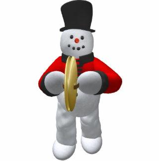 Vintage Snowmen: Cymbalist Statuette