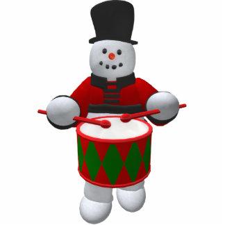 Vintage Snowmen: Drummer Cutout