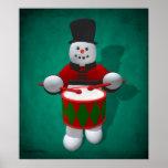 Vintage Snowmen: Drummer Poster