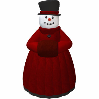 Vintage Snowmen: Lady Cool Statuette