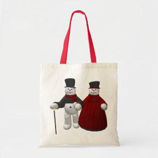 Vintage Snowmen: Lord & Lady Cool Tote Bag