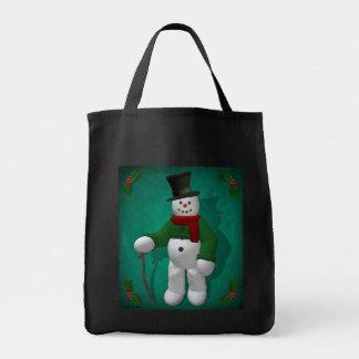 Vintage Snowmen: Mr. Cratchit Bags