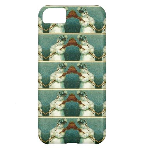 Vintage Snowmen Pattern Repeat iPhone 5C Cover