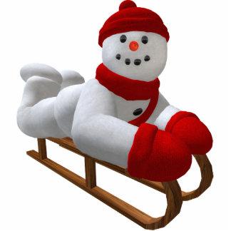 Vintage Snowmen: Sledder Cutout