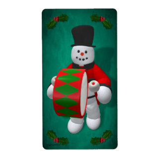 Vintage Snowmen: Timpanist Label