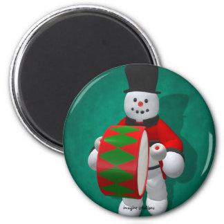Vintage Snowmen: Timpanist Refrigerator Magnet