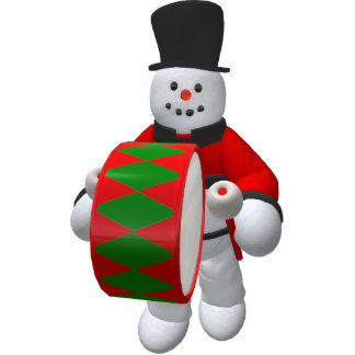 Vintage Snowmen: Timpanist Statuette