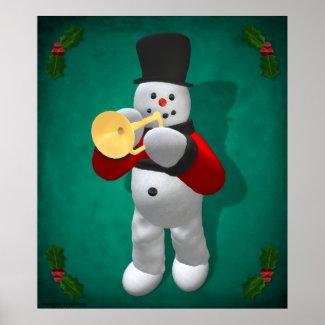 Vintage Snowmen: Trumpeter print