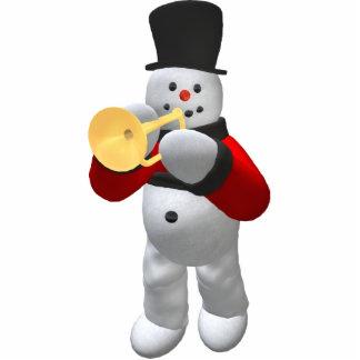 Vintage Snowmen: Trumpeter Statuette