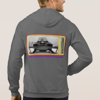 Vintage Snowmobile Lovers 1972 Arctic Cat Hoodie 2