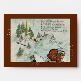 Vintage Snowy Christmas Envelopes