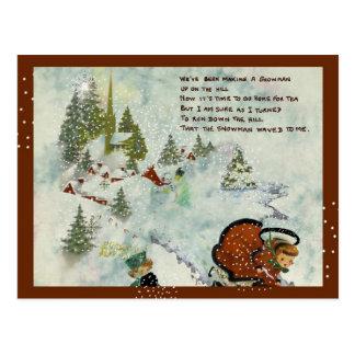 Vintage Snowy Christmas Postcard