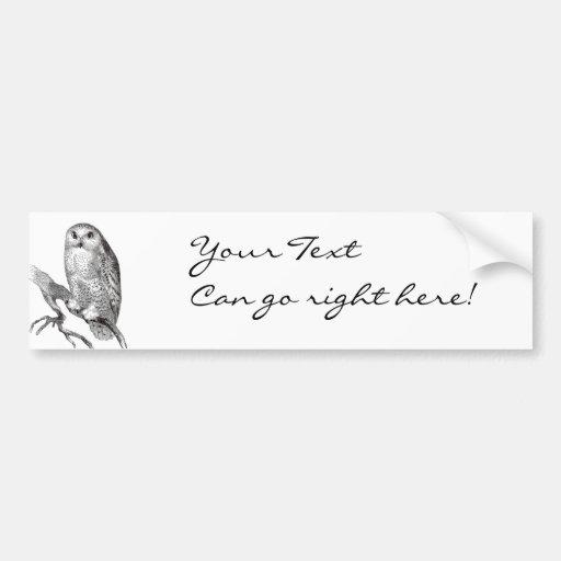 Vintage Snowy Owl Bumper Sticker