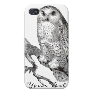 Vintage Snowy Owl iPhone 4 Speck Case