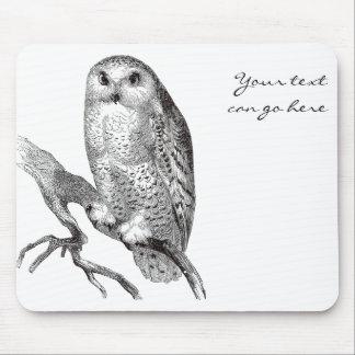 Vintage Snowy Owl Mousepad