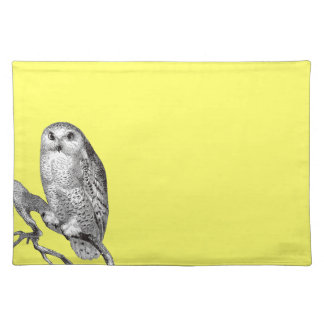 Vintage Snowy Owl Placemat