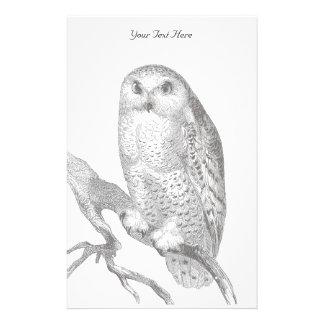 Vintage Snowy Owl Stationery