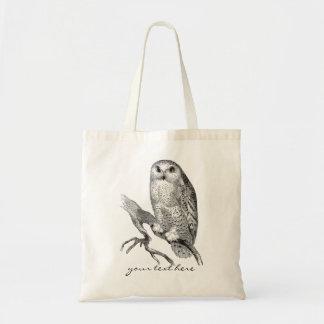Vintage Snowy Owl Tote Bag