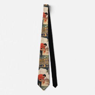 Vintage soap advertisement necktie