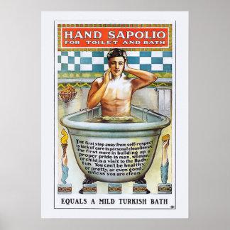 Vintage Soap Poster - Hand Sopolio