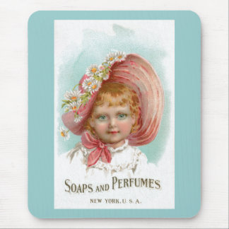 Vintage Soaps and Perfumes Advertisement Mouse Pad